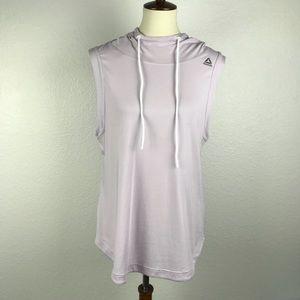 Reebok Lilac Cotton Spandex Knit Hoodie